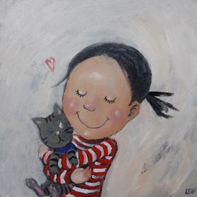 Pet Cat / Knuffelkat